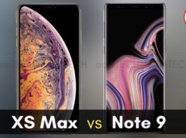 IPhone XS Max VS Samsung Galaxy Note 9 Camera, Price, Features and Specifications आईफ़ोन XS मैक्स और सैमसंग गैलेक्सी नोट 9