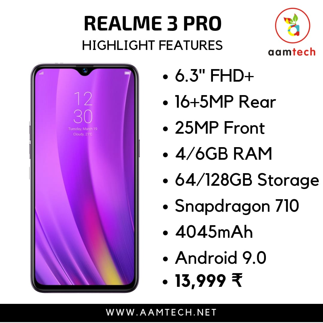 Top 5 Phone Under 20000 - Realme 3 Pro
