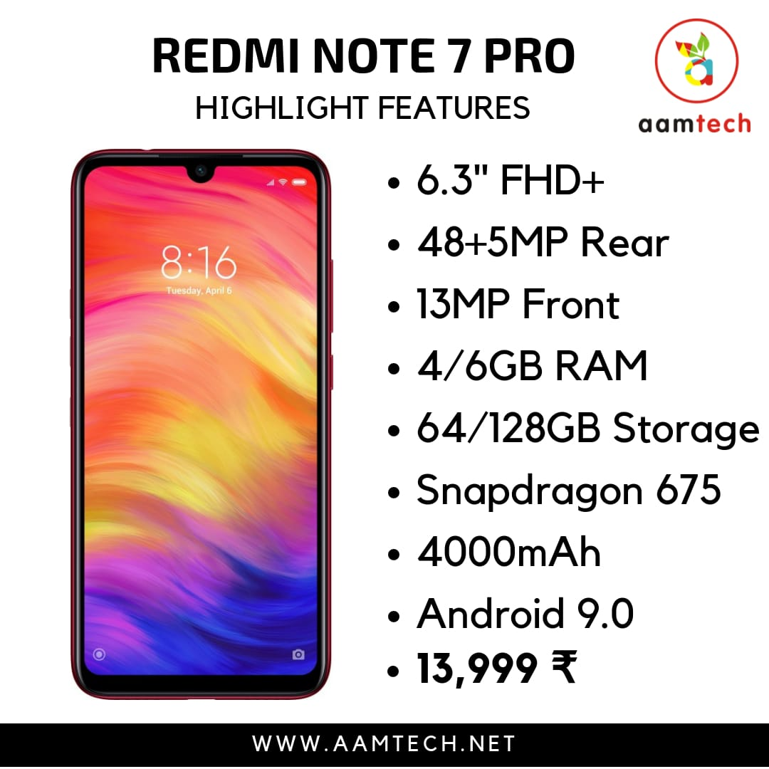 Top 5 Phone Under 20000 - Redmi Note 7 Pro