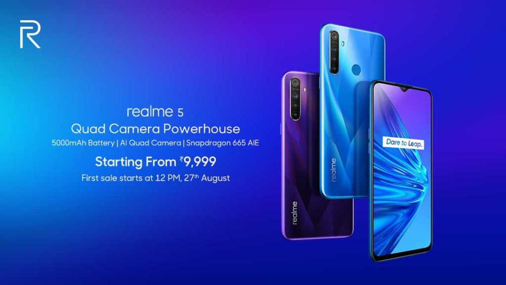 रियलमी 5 और 5 प्रो हुए भारत में लॉन्च, जाने क्या है इनके दाम Realme 5 Realme 5 Pro Price Specifications India 2