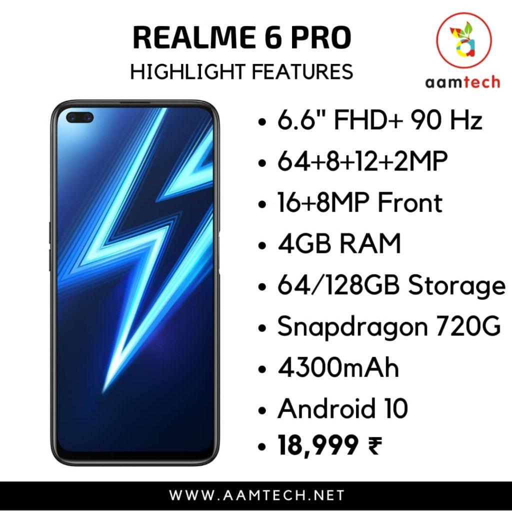 टॉप 5 बेस्ट फोन 20 हजार के अंदर Realme 6 Pro