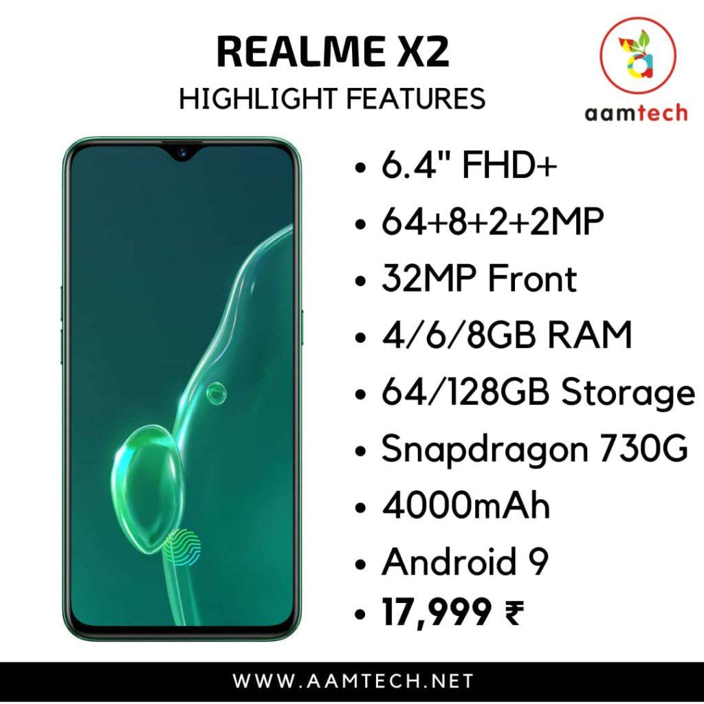 टॉप 5 बेस्ट फोन 20 हजार के अंदर Realme X2